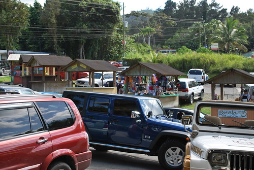 Busy street in Guavate, PR