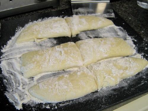 resting baguette dough