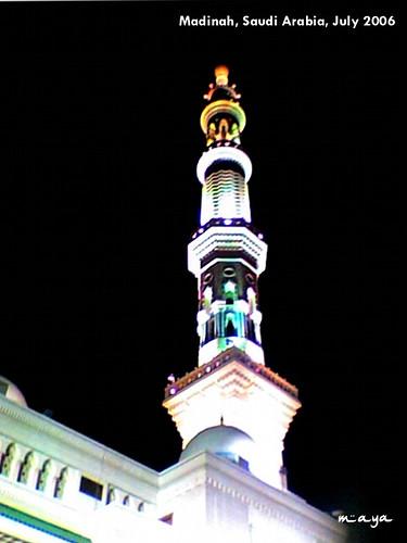 salah satu pilar mesjid nabawi