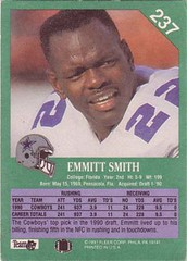 1991 Fleer #237 Emmitt Smith back