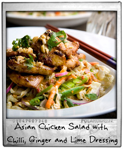 Asian Chicken Salad with Chilli, Ginger and Lime Dressing