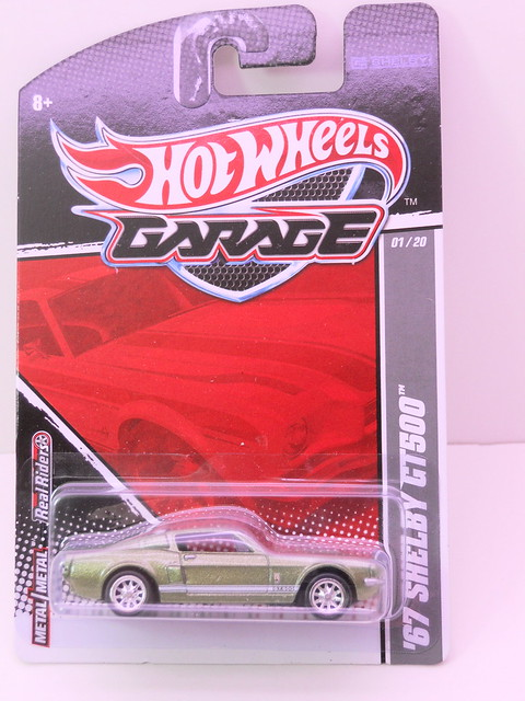 hot wheels garage '67 shelby gt500 green (1)