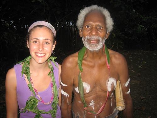 Hannah and Chief Saitol, Banam Bay, Malekula, Vanuatu