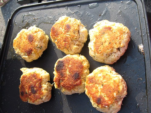 Crabcakes: Browned on One Side