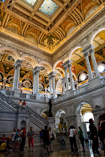 We then went to the Library of Congress, where we also were unable to get a tour and see the rest of the building.