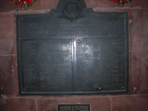 War Memorial at Barrow Railway Station