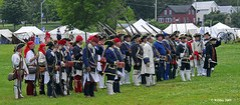 A Moment of Silence - Plains of Abraham Re-Enactment, Founders Day 2009, Ogdensburg, New York