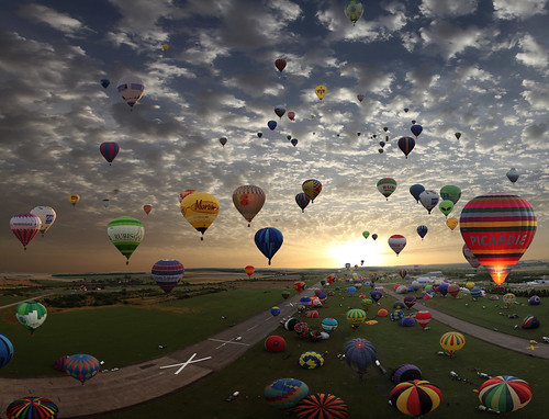 The largest hot-air balloon gathering in the world,, Chambley, France