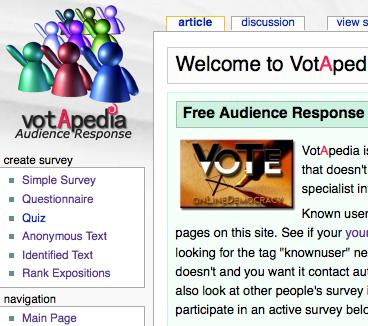 Votapedia home page