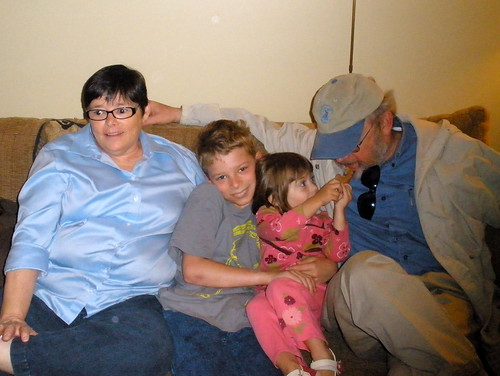 The grandparents and their grandchildren