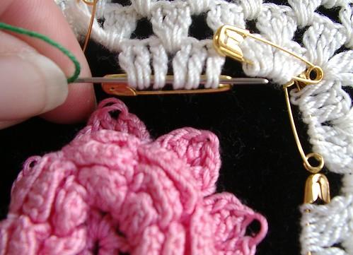 start of weave in