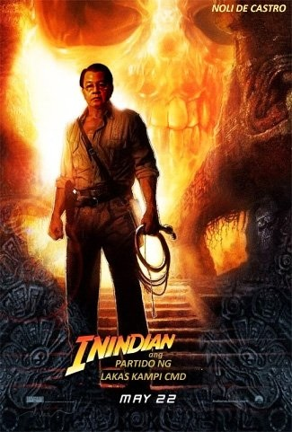 Undecided Presidentiable Noli de Castro in this spoof on Indiana Jones.