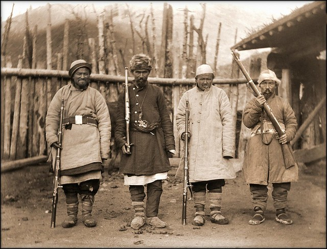 Muslim Bandits, Xinjiang, China [c1915] Marc Aurel Stein [RESTORED]