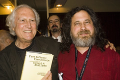 Fernando 'Pino' Solanas and Richard Stallman