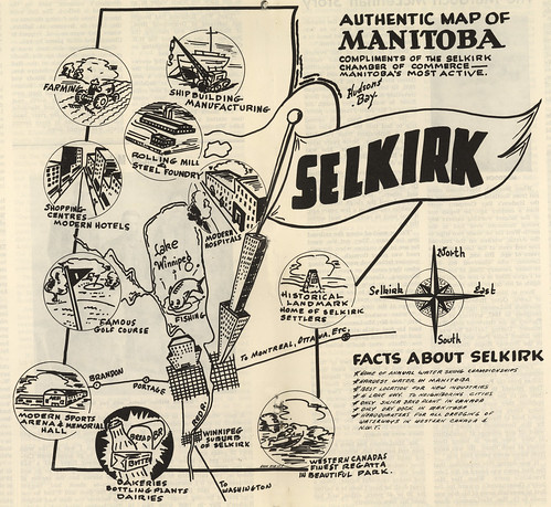 Authentic Map of Manitoba Compliments of the S...