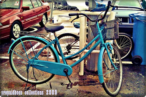 the blue bicycle is not my bicycle