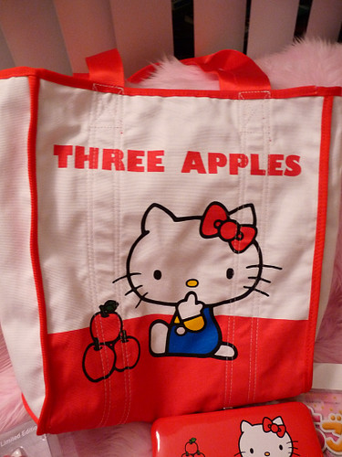 Limited Edition Hello Kitty 3 Apples reversible tote
