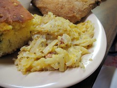carver's country kitchen - cheesy potato ham casserole