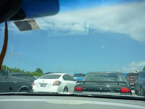 Traffic jam in San Juan