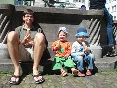 Eis essen in Freiburg