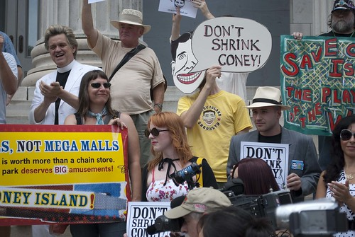 July 26 Last Chance to Save Coney Rally. Photo © jane_jacobs_saves_coney via flickr