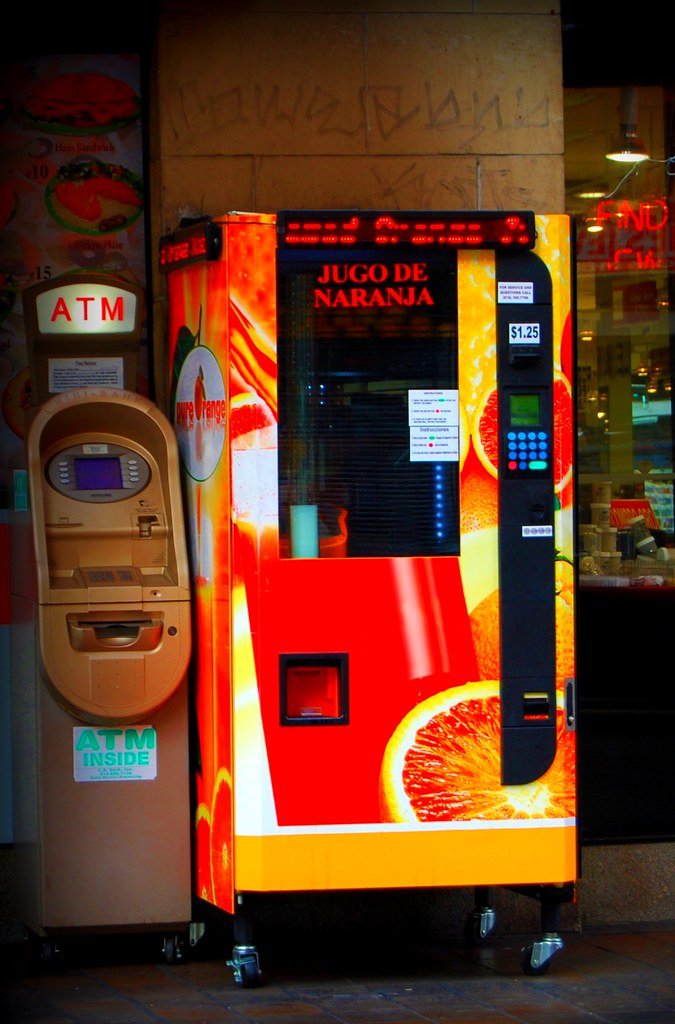 Fresh Squeezed Juice Vending Machine in Downtown Los Angeles