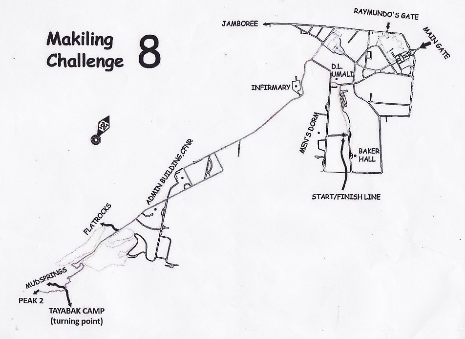 Makiling Challenge 8 Race Route