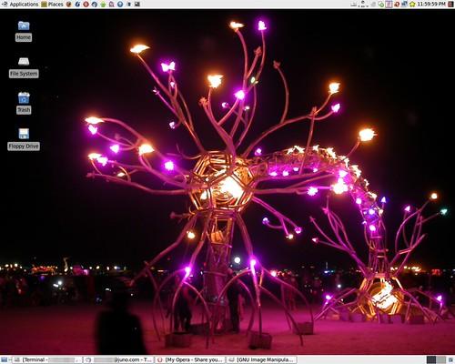 Burning Man Linux Desktop