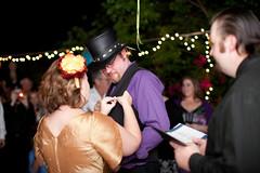 The wedding pin exchange.
