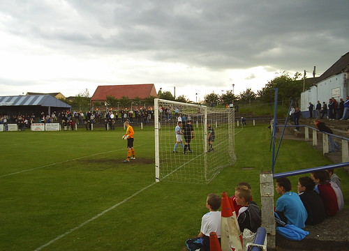 The linesman checks the net