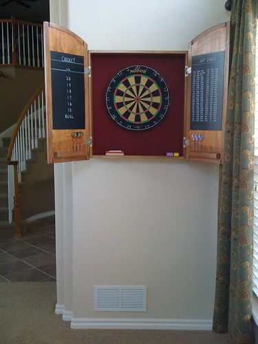 Dartboard Cabinet Interior - Complete