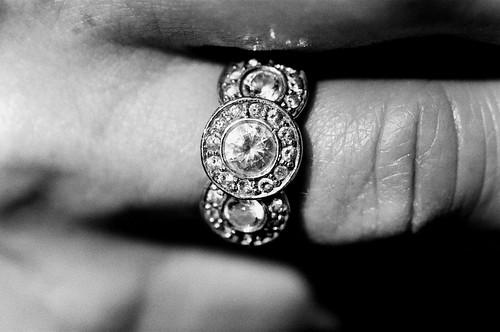Mom's Ring, Late Afternoon, New York City. (Ilford Delta 400. Nikon F100. Noritsu Koki.)