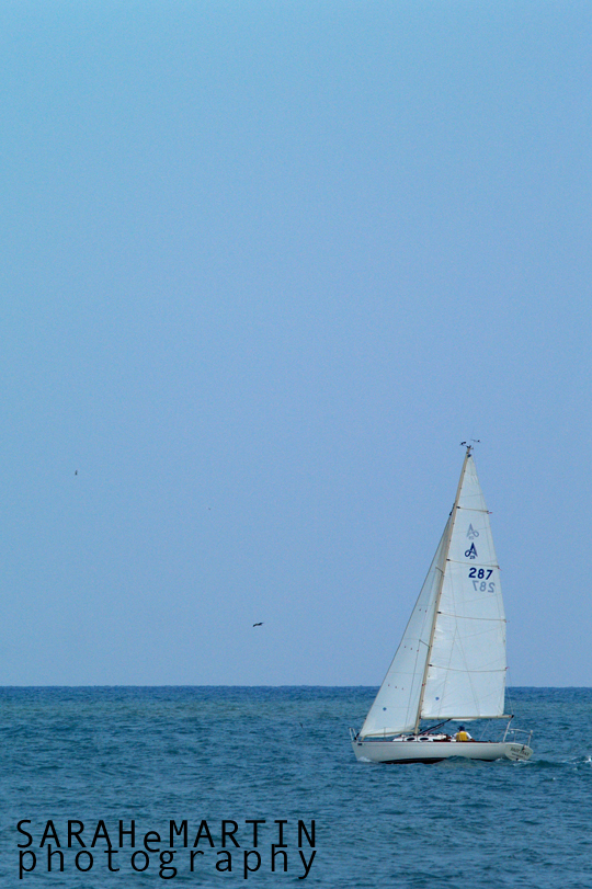 The Beach - Sailboat