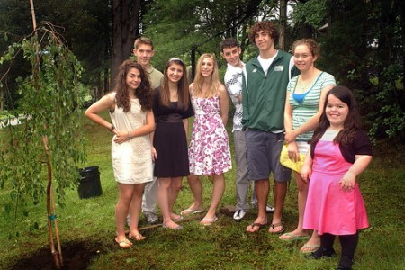Coming of Age members, from left: Olivia Timmins, Nathaniel Swanson, Lea Anne Waybright, Rebecca Pomerantz, Charlie Bremesco, Jackson MacDonald, Hannah Reich, and Becky Kennedy. Not shown: Lily Savoie.