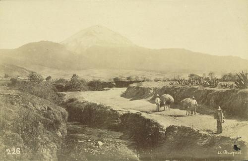 Mount Popocatepetl seen from near Amecameca