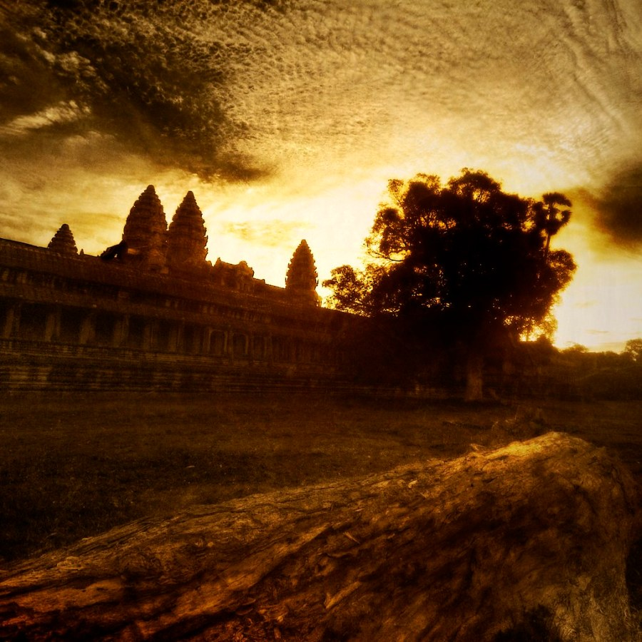 Burning Through the Clouds - Angkor Wat in the Morning