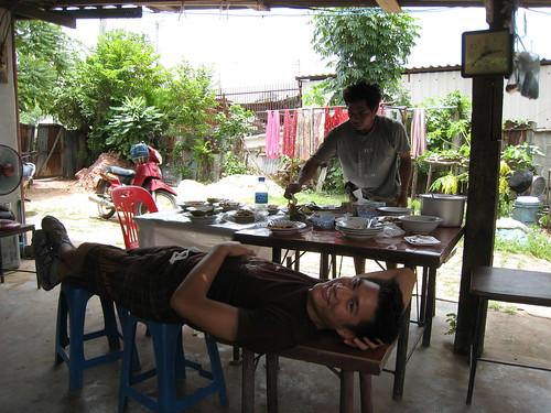 After lunch nap during Habitat (Korat, Thailand)