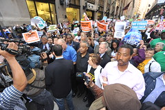 NYC TEACHERS'  PROTEST RALLY AGAINST LAYOFFS  ...