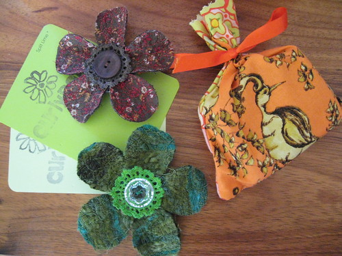CurlyPops brooches and Flickettysplits soap bag by you.