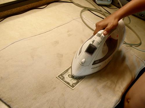 ironing money