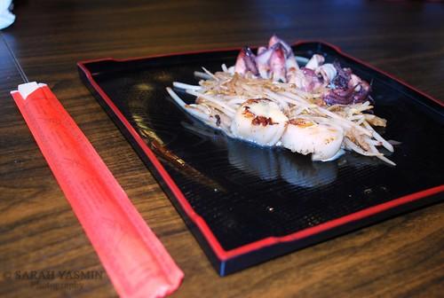 Grilled scallops and calamari