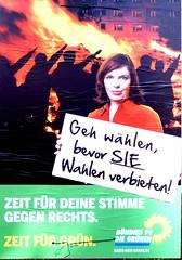 Zuvor betätigte sich Christin Löchner erfolglos bei den faschistischen GRÜNEN um ein Bundestagsmandat und 10.000 Euro im Monat bar auf die Kralle. Danach ging sie zu den LINKEN JUGEND SACHSEN.