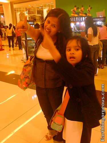 My sister Olay and daughter Tasha enjoying SM Fairview new look