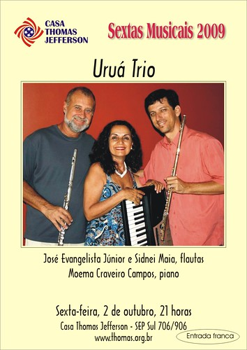 Da esquerda para a direita, Sidney Maia, Moema Craveiro e José Evangelista Jr (Zé da Flauta)