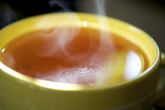 A steamy cup of tea