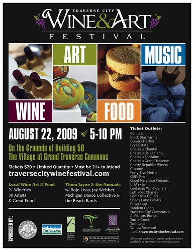Traverse City Wine & Art Festival poster