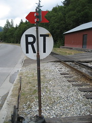railroad track sign