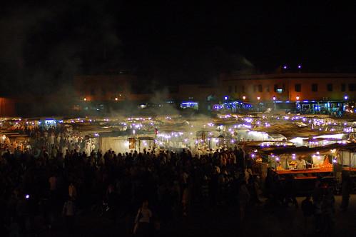 Djemaa el Fna at night, Marrakech