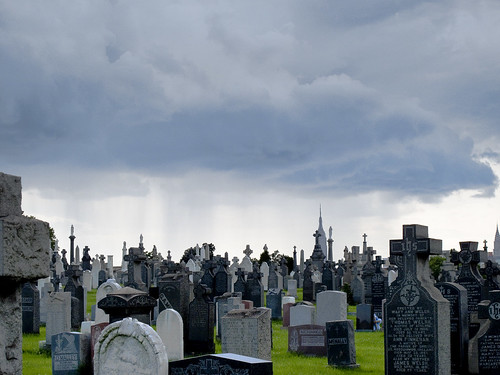 Rain over Cavalry Cemetery by you.