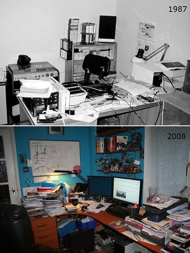 Messy desks